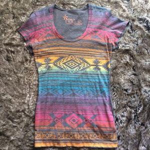 PacSun Nollie Rainbow Aztec T-shirt