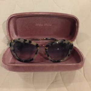 Miu miu creme tortoise shell sunglasses