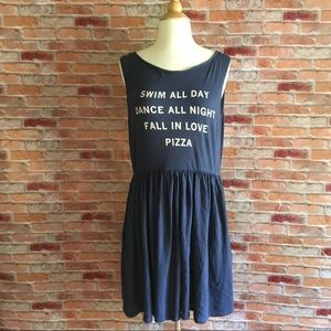 Wildfox navy 'pizza party' 90s babydoll dress