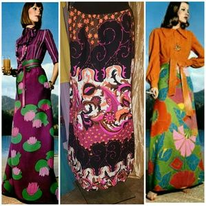 Authentic 1970s psychedelic maxi skirt