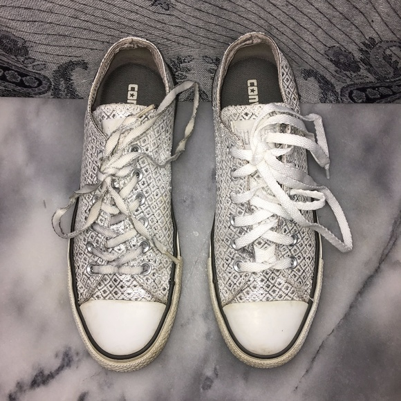 191ea083044b Converse Shoes - Silver Diamond Converse