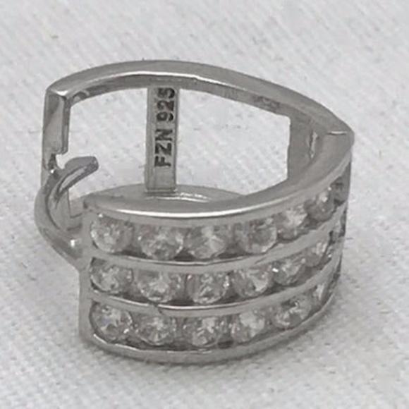FZN Earrings CZ & Fine  925 Silver