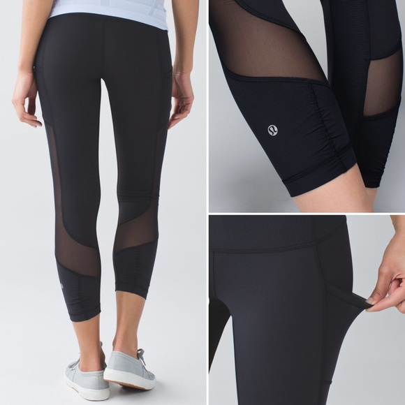 f90d4ae535a16 lululemon athletica Pants - Lululemon Seek the Heat Crop Pants Black Size 4