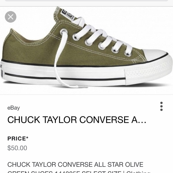 a20b69366cb5 Converse Shoes - ‼️New photos‼ Olive green converse low tops