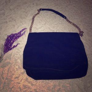 H&m black suede shoulder bag