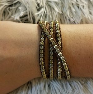 Jewelry - Beautiful wrap bracelet with bronze beads