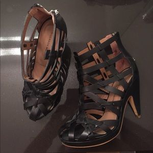 Sigerson Morrison RARE black cage booties 7 $425