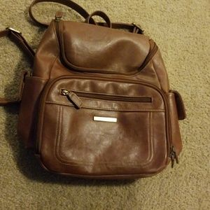 Small brown pure backpack