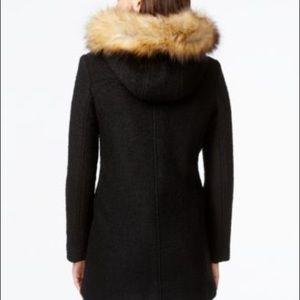 Bar III Jackets & Coats - Faux Fur Trimmed Jacket