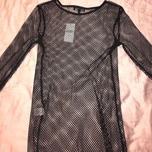 0672833f729 Fashion Nova Long Sleeve Fishnet Top NWT