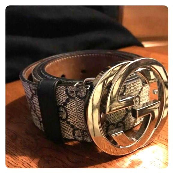fa408010 Men's supreme Gucci belt