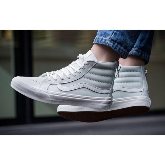 8d9c84736b Vans Zephyr Blue Sk8 Hi Slim Zip Sneakers