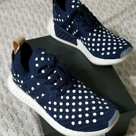 81c892732d31d Adidas nmd r2 primeknit polka dot