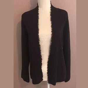 Eileen Fisher Cardigan Sweater Brown Medium