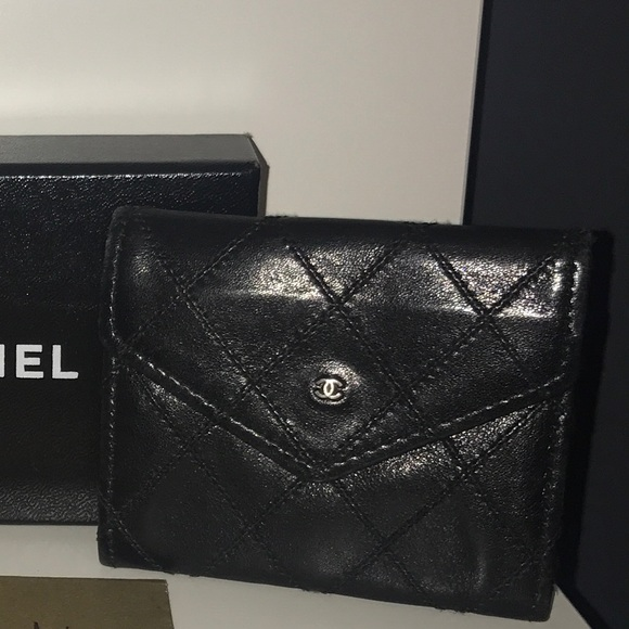 c98a86fce8ee CHANEL Accessories | Vintage Card Holder On Sale | Poshmark