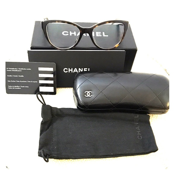 9bc47f8240b8 CHANEL Accessories - Chanel 3315 Cat Eyeglasses Havana Drk Brn + Case