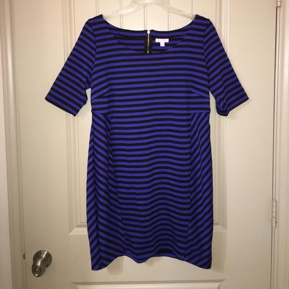 903b849c97c9a A Pea in the Pod Dresses & Skirts - Pea In The Pod Blue Black Stripe