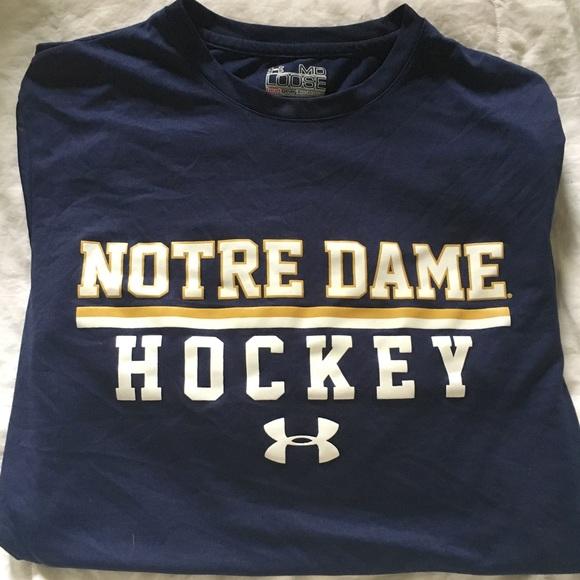 finest selection 30d8c 4dc31 Men's Under Armour Notre Dame Hockey shirt size M