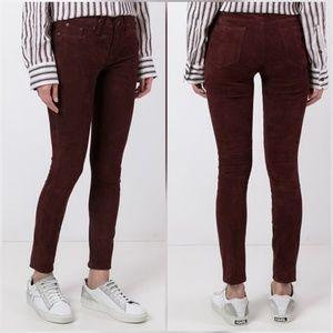 Rag & Bone Port Suede Skinny Jeans Pants