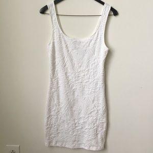 White mini bodycon dress