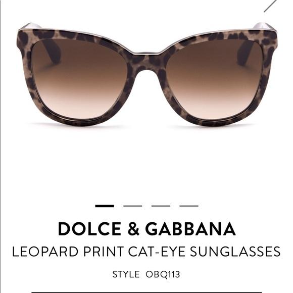 787d0c87ca2c Dolce & Gabbana Accessories - Dolce & Gabbana leopard print cat eye  sunglasses