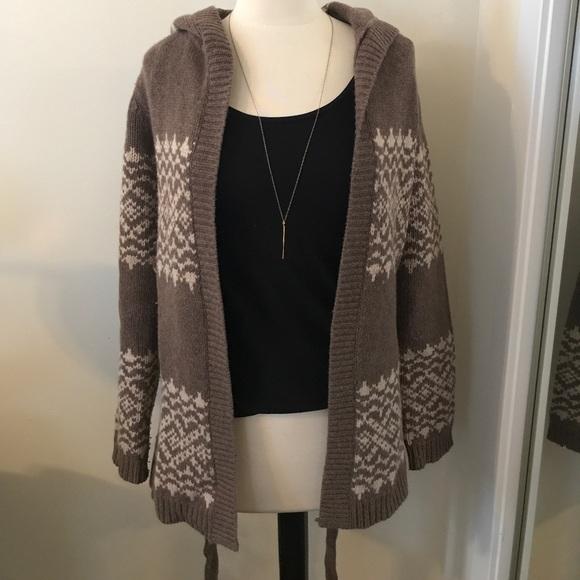 60% off GAP Sweaters - Gap Fair Isle Tan Belted Cardigan with ...