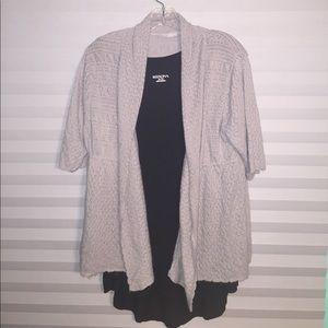 NY collection petite Short sleeve cardigan