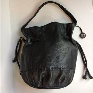 The Sak Leather Draw String Hobo