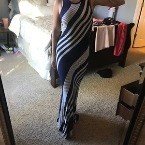 Beautiful Navy and White Maxi