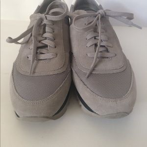 32402bc0ebe Tory Burch Shoes - Tory Burch Grey Sawtooth Sneakers 9.5
