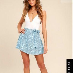 NEW Lulus printed wrap skirt