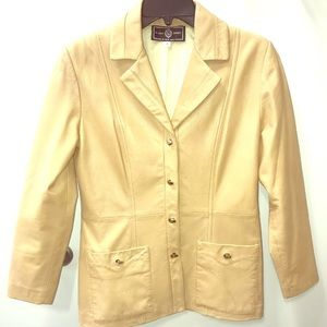 St John Sport 100% leather jacket blazer