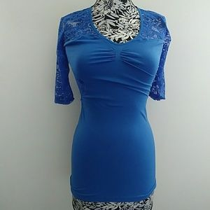 Poof Seamless Mini Lace Dress