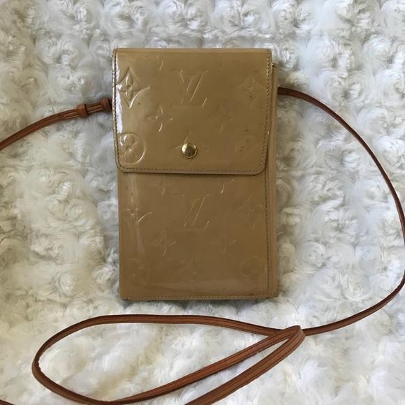 c0d520415bd Louis Vuitton Handbags - Vernis Beige Passport Wallet Crossbody.
