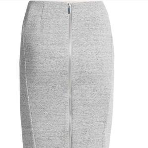 Elizabeth and James Carolann Pencil Skirt Gray 2