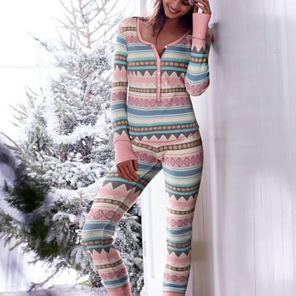 874e487729 Victorias Secret Fireside Thermal Pajama Set. M 59db95e3620ff7f66703eaa6