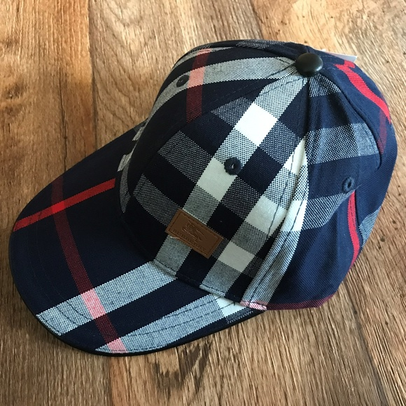 Burberry Other - Burberry Mens Hat Baseball Cap Blue and White Hat 56a997b2d0a