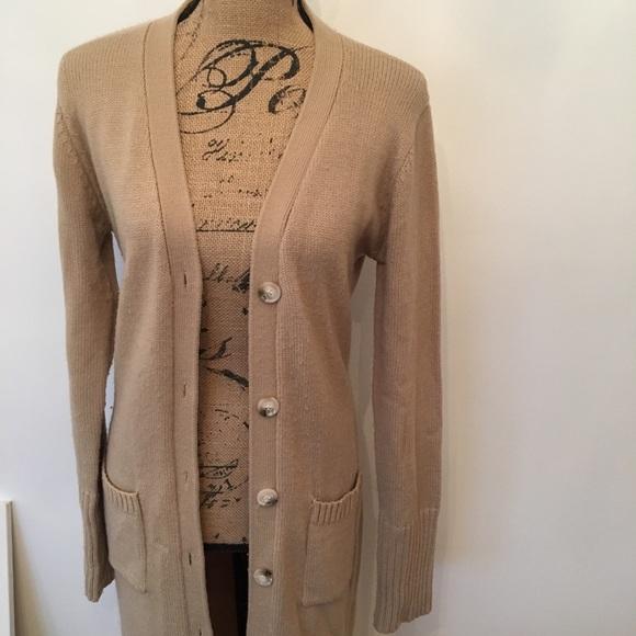 60% off Sweaters - Long tan sweater cardigan from Hannah's closet ...