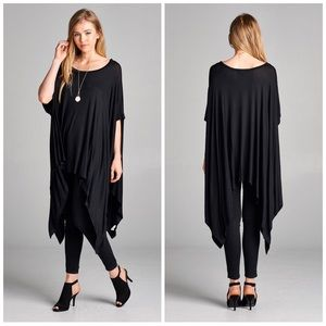 Tops - BLACK • Chic • Tunic Top