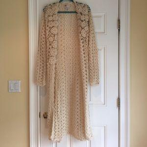Twill twenty two crocheted sweater size L
