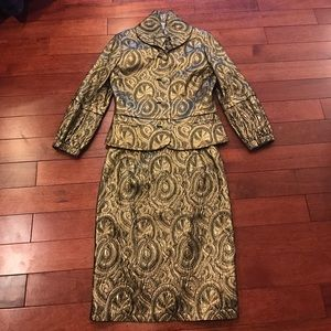 💎gold brocade jacket and skirt suit