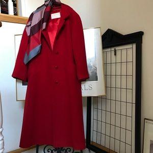 PENDLETON Red Coat, Vintage 💯% Virgin Wool Sz 12