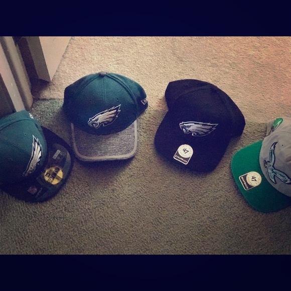 Brand New Philadelphia Eagles Hats. NWT. 47 brand 78e7a8a317d4