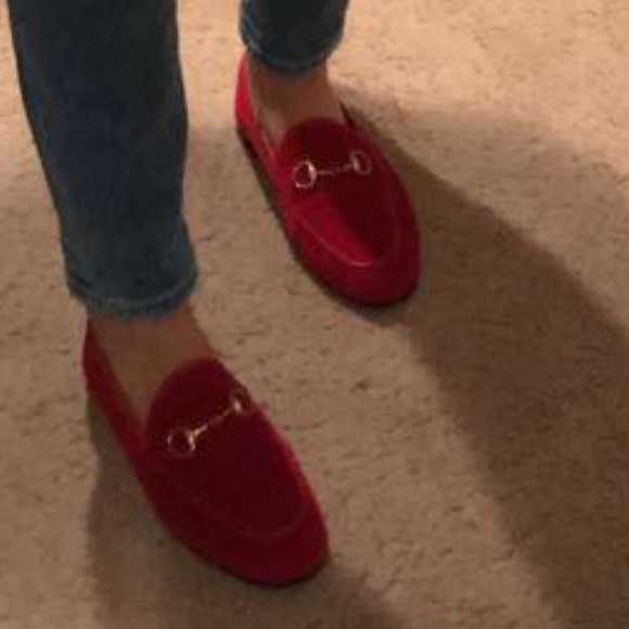 201e94e7633 Gucci Shoes - Red velvet Gucci loafers