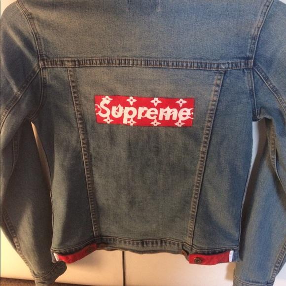 6922c597d Supreme X Louis Vuitton custom denim jacket