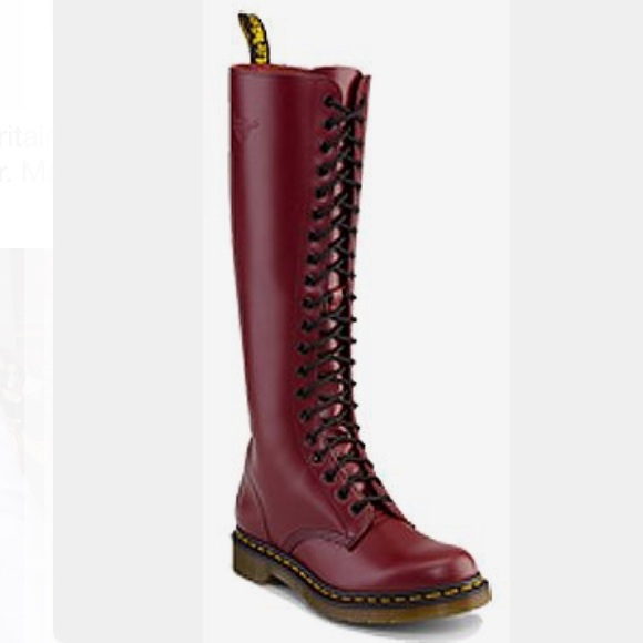55ccfbf15 Dr. Martens Shoes   Dr Marten 20 Eye Tall Oxblood Red Boots   Poshmark