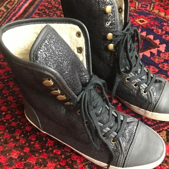 e76bc2edd5ed8 Sam Edelman Shoes - Sam Edelman Cori Shearling High Top Sneakers - 7
