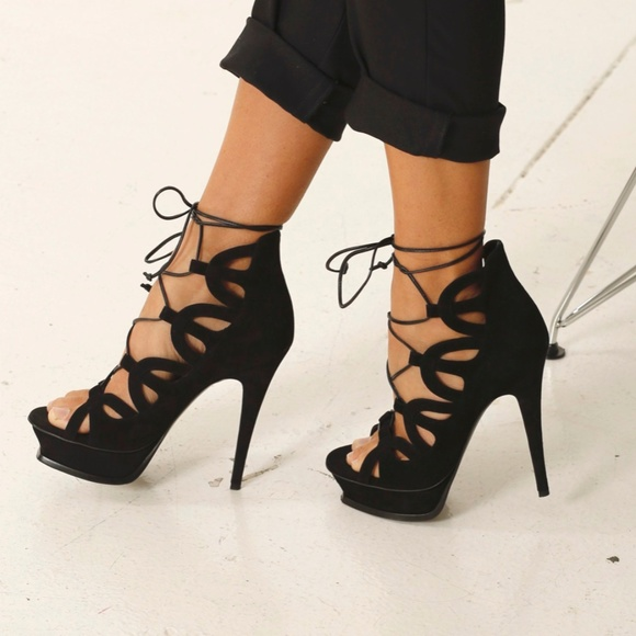 4b0abc4c339 Saint Laurent Shoes | Tribute 16 Lace Up Platform Sandal | Poshmark