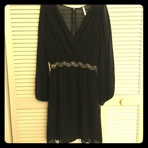 Black Dress with beaded detail