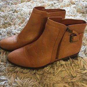 Ralph Lauren Cognac Ankle Boots